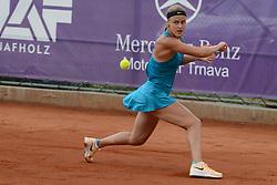 May 16, 2018 - Trnava, Slovakia - ANNA KAROLINA SCHMIEDLOVA of Slovakia in her first round match in the Empire Slovak Open tennis tournament in Trnava Slovakia (Credit Image: © Christopher Levy via ZUMA Wire)