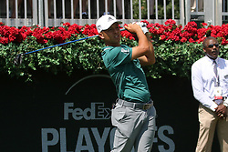 September 20, 2018 - Atlanta, GA, U.S. - ATLANTA, GA - SEPTEMBER 20: Xander Schauffele during the first round of the PGA Tour Championship on September 20, 2018, at East Lake Golf Club in Atlanta, GA. (Photo by Michael Wade/Icon Sportswire) (Credit Image: © Michael Wade/Icon SMI via ZUMA Press)