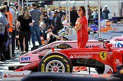 © Licensed to London News Pictures. 12/07/2017. London, UK. Formula One race cars on display.  Formula One racing comes to Trafalgar Square and Whitehall for a promotional event called F1LiveLondon ahead of the British Grand Prix at Silverstone. Photo credit : Stephen Chung/LNP