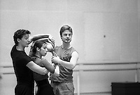 "Choreographer, Cristopher Wheeldon in rehearsal for the world premiere of his ballet, ""Tryst"" at the Royal Ballet."
