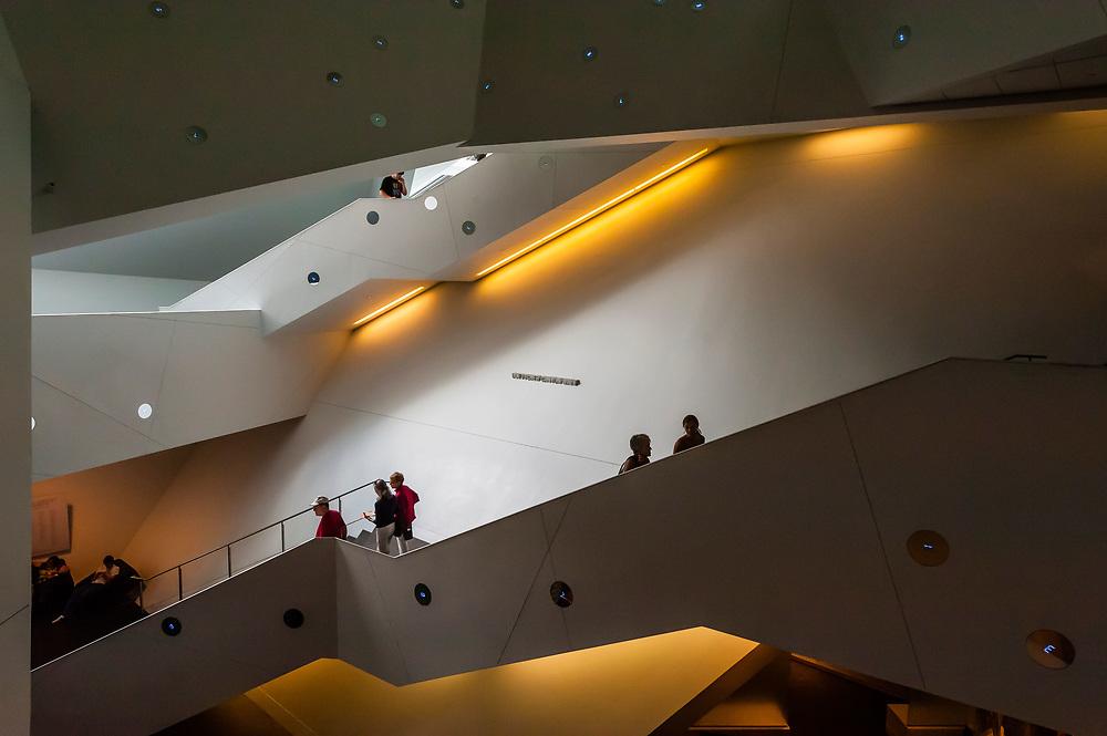 Interior View, Frederic C. Hamilton Building, Denver Art Museum, Downtown Denver, Colorado USA
