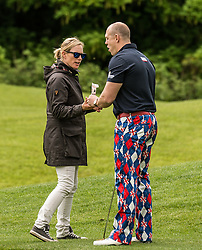 Zara Tindall and Mike Tindall at The ISPS HANDA Mike Tindall Celebrity Golf Classic<br /> <br /> (c) John Baguley | Edinburgh Elite media