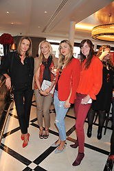 Left to right, DITA VANKOVA, STANA SCHILLING, IVANA HRJNEV and CAT MULLEN at a lunch to launch Cash & Rocket on Tour 2013 hosted by Julia Brangstrup in aid of Orpan Aid and Shine on Sierrra Leone held at Banca, 40 North Audley Street, London on 29th April 2013.