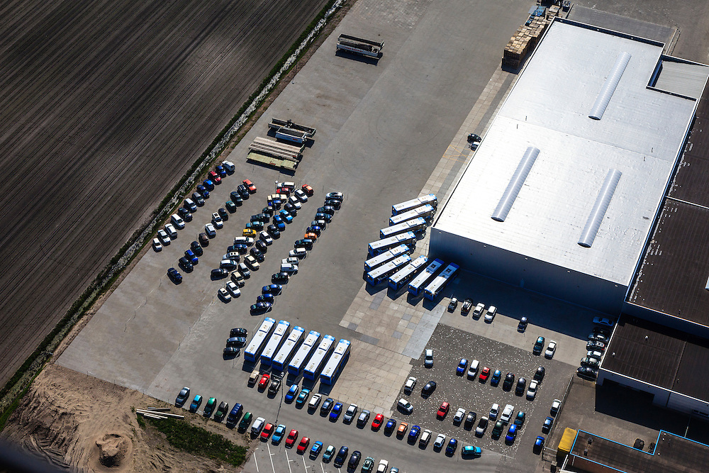 Nederland, Overijssel, Dedemsvaart, 01-05-2013; bedrijventerrein met distributiecentrum.<br /> Business park with distribution facility.<br /> luchtfoto (toeslag op standard tarieven);<br /> aerial photo (additional fee required);<br /> copyright foto/photo Siebe Swart