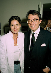 MR DAVID TANG the multi millionaire Hong Kong businessman and his fiance MISS LUCY WASTNAGE, at a party in London on 11th June 1997.LZG 82