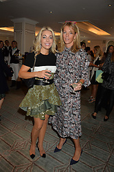 Left to right, JULIET MAYHEW and FIONA DREESMAN at the 3rd annual Gynaecological Cancer Fund Ladies Lunch at Fortnum & Mason, 181 Piccadilly, London on 29th September 2016.