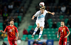 Rene Krhin of Slovenia during football match between National teams of Slovenia and North Macedonia in Group G of UEFA Euro 2020 qualifications, on March 24, 2019 in SRC Stozice, Ljubljana, Slovenia. Photo by Vid Ponikvar / Sportida