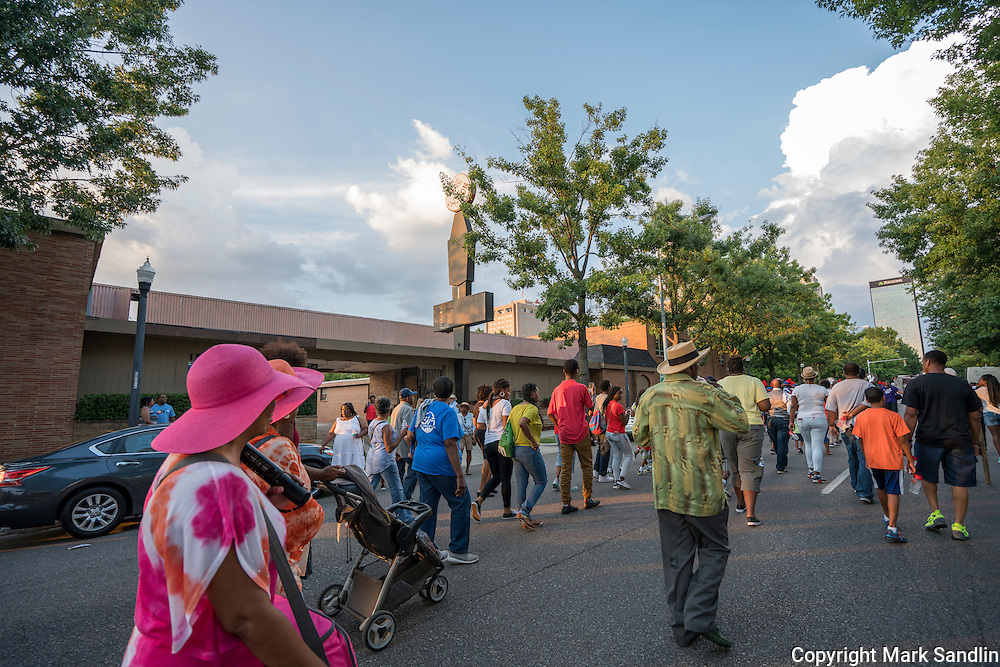 March for Birmingham participants begin the walk in front of the AG Gaston Motel.