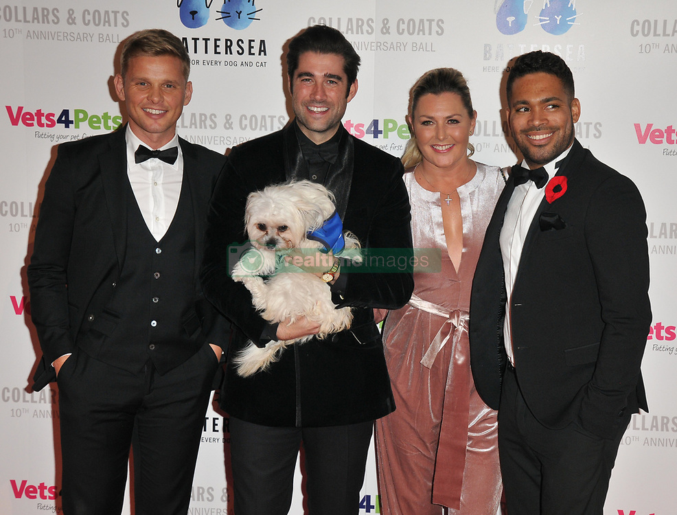 Jim Chapman at the Battersea Dogs. 01 Nov 2018 Pictured: Jeff Brazier, Matt Johnson, Judie McCourt? and Danyl Johnson. Photo credit: CAN/Capital Pictures / MEGA TheMegaAgency.com +1 888 505 6342