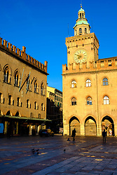 Early morning at the Town Hall (Comune di Bologna), Bologna, Italy<br /> <br /> (c) Andrew Wilson | Edinburgh Elite media