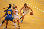 Womens international Basketball action during the 2008 to 2009 Eurobasket competition. Great Britain v Ukraine at the Welsh institute of sport in Cardiff.