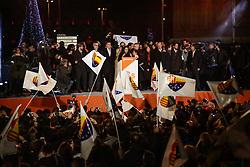 Barcelona, election night after the Catalan regional elections. 22 Dec 2017 Pictured: Ciudadanos. Photo credit: Fotogramma / MEGA TheMegaAgency.com +1 888 505 6342