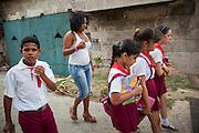 Students on the way home. Havana, Cuba