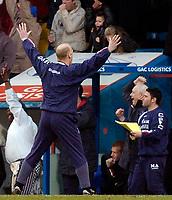 Photo: Alan Crowhurst.<br />Crystal Palace v Cardiff City. Coca Cola Championship. 04/02/2006. <br />Iain Dowie celebrates the Palace goal.