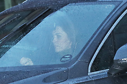 """The Duchess of Cambridge leaves Kensington Palace, London, in the wake of the announcement that the Duke and Duchess of Sussex will take a step back as """"senior members"""" of the royal family, dividing their time between the UK and North America."""