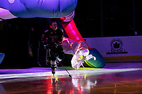 KELOWNA, BC - SEPTEMBER 21:  Kyle Topping #24 of the Kelowna Rockets enters the ice for home opener against the Spokane Chiefs at Prospera Place on September 21, 2019 in Kelowna, Canada. (Photo by Marissa Baecker/Shoot the Breeze)