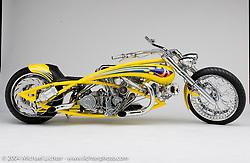 """Top Banana"" custom bike built by Arlen Ness in Dublin, CA, April 6, 2001, photographed by Michael Lichter in Dublin, CA. ©2004 Michael Lichter"