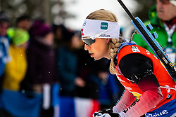 March 16, 2019 - –Stersund, Sweden - 190316 Tiril Eckhoff of Norway competes in the Women's 4x6 km Relay during the IBU World Championships Biathlon on March 16, 2019 in Östersund..Photo: Johan Axelsson / BILDBYRÃ…N / Cop 245 (Credit Image: © Johan Axelsson/Bildbyran via ZUMA Press)