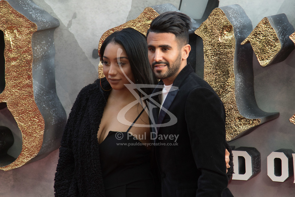 London, May 10th 2017. Rita Mahrez and Riyad Mahrez attends the European premiere of King Arthur - Legend of the Sword at the Cineworld Empire in Leicester Square.