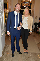 NADJA SWAROVSKI and RUPERT ADAMS  at a party to kick off London Fashion Week hosted by US Ambassador Matthew Barzun and Mrs Brooke Brown Barzun with Alexandra Shulman in association with J.Crew hrld at Winfield House, Regent's Park, London on 18th September 2015.