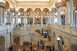 A view of the Congress Library in Washington DC in the United States. From a series of travel photos in the United States. Photo date: Friday, March 30, 2018. Photo credit should read: Richard Gray/EMPICS