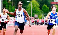 Friidrett<br /> UM Ungdomsmesterskapet<br /> Molde Idrettspark , 03.09.10<br /> Per Magnus Arjun Solli Nesbyen IL vinner 100m gutter 18/19 med 10.77<br /> <br /> Foto: Eirik Førde
