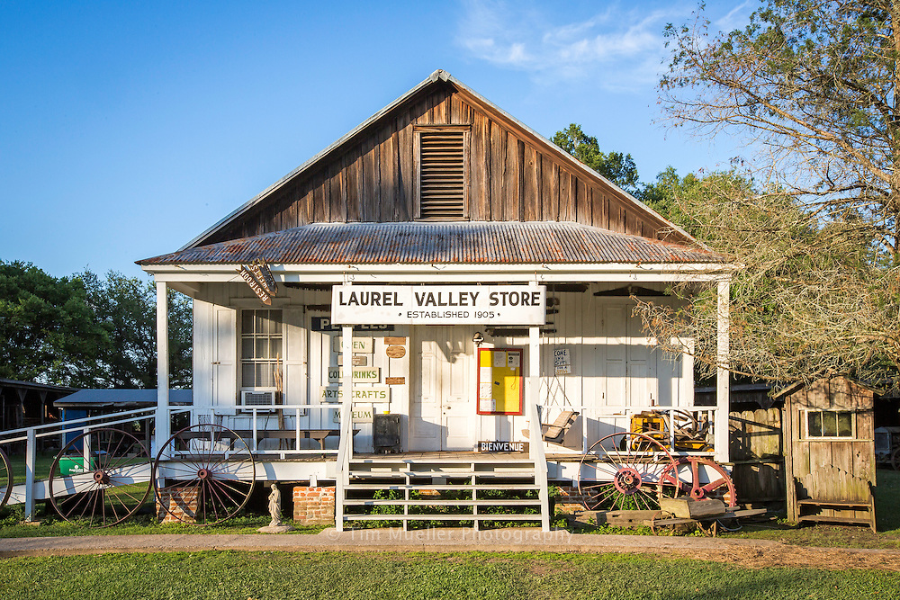 Laural Valley Village in Thibodaux, La. is the largest surviving 19th and 20th century sugar plantation complex in the United States. Nearly 60 original structures are scattered around sugar fields and oak groves. The general store contains many examples of farm implements used in the cultivation of sugar cane as well as locally produced arts and crafts.