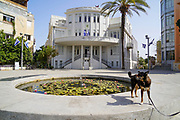 Bialik Square, The Old municipality building in the background  Eclectic Style Architecture In Tel-Aviv, Israel