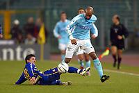 Roma 14/1/2004 - Coppa Italia<br />Lazio Parma 2-0<br />Benito Carbone (Parma) e Ousmane Dabo (Lazio)<br />Foto Andrea Staccioli Graffiti