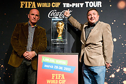 Best Slovenian all time football player Brane Oblak and ... at VIP reception of FIFA World Cup Trophy Tour by Coca-Cola, on March 29, 2010, in BTC City, Ljubljana, Slovenia.  (Photo by Vid Ponikvar / Sportida)