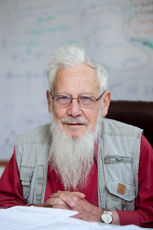 Prof. Israel ( Robert J.) Aumann, Nobel laureate in Economics, poses for a portrait during an interview at his office in the Hebrew University of Jerusalem, on July 7, 2011.