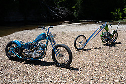 Brock Bridges' custom Shovelhead at the Tennessee Motorcycles and Music Revival at Loretta Lynn's Ranch. Hurricane Mills, TN, USA. Thursday, May 20, 2021. Photography ©2021 Michael Lichter.