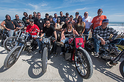 A great group of people and custom bikes out riding near Flagler Beach during Daytona Beach Bike Week 2015. FL, USA. March 13, 2015.  Photography ©2015 Michael Lichter.