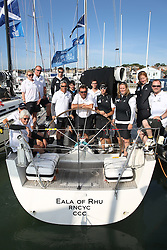 Brewin Dolphin Scottish Series 2014,  an International IRC competition racing on the Solent off Cowes and hosted by the RORC.<br /> <br /> Jamie McGarry and Kevin Sproul onboard the Team Scotland Swan 45, Eala of Rhu prior to the Offshore race<br /> <br /> Credit.  Marc Turner