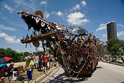 """Stock photo of the Houston Art Car Parade 2012 - """"Draka"""" by Lisa Nigro aka Dragon Mistress"""