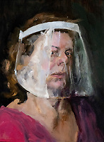 Coventry city of culture 2021 the  Ruth Borchard Collection's Self-Portrait Prize 2021 (Jane Kelly)at the coventry cathedral. The Prize is the only art competition of its kinds to focus exclusively on self-portraiture.