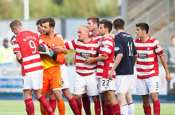 Hamilton's manager (10) Alex Neil at the end,<br /> Falkirk 1 v 2 Hamilton, Scottish Championship 31/8/2013.<br /> ©Michael Schofield.