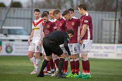 Stenhousemuir wall. Stenhousemuir 1 v 0 Airdrie, Scottish Football League Division One played 26/1/2019 at Ochilview Park.