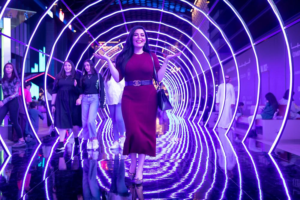 Mona Kattan at City Walk, Dubai, as part of Dubai Shopping Festival 2020.
