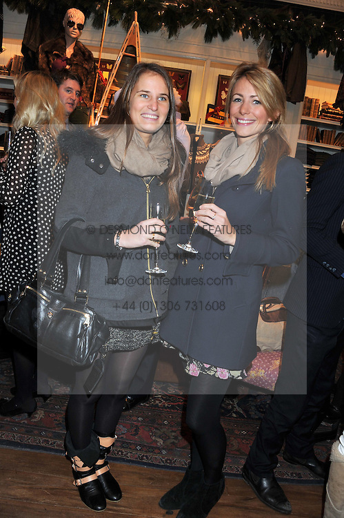 Left to right, VICTORIA VON WESTENHOLZ and ANNEKE VON TROTHA TAYLOR at a party hosted by TLC to celebrate signing their 5000th member and Ralph Lauren to celebrate the opening of the first Ralph Lauren Rugby store in the UK at 43 King Street, Covent Garden, London on 30th November 2011.