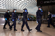 MELBOURNE, VIC - SEPTEMBER 20: Police are seen clearing Chadstone Shopping Centre after a small group of protesters managed to evade them during a series of pop up Freedom protests on September 20, 2020 in Melbourne, Australia. Freedom protests are being held in Melbourne every Saturday and Sunday in response to the governments COVID-19 restrictions and continuing removal of liberties despite new cases being on the decline. Victoria recorded a further 14 new cases overnight along with 7 deaths. (Photo by Dave Hewison/Speed Media)