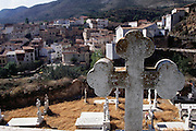 Graveyard in the town of Arnedillo, La Rioja, Spain.