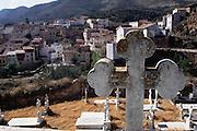 Graveyard in the town of Arnedillo, La Rioja, Spain.