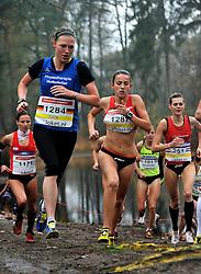 27-11-2011 ATLETIEK: NK CROSS 53e WARANDELOOP: TILBURG<br /> (L-R) Maren Cock (U23) GER, Sabine van de Reijt<br /> ©2011-FotoHoogendoorn.nl