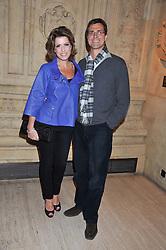 NATASHA KAPLINSKY and JUSTIN BOWER at Cirque du Soleil's VIP night of Kooza held at the Royal Albert Hall, London on 8th January 2013.