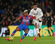 Lys Mousset of Sheffield Utd and Patrick van Aanholt of Crystal Palace during the Premier League match at Selhurst Park, London. Picture date: 1st February 2020. Picture credit should read: Paul Terry/Sportimage