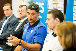 Andrea Giani, head coach of Slovenian team during press conference of Slovenian Volleyball Federation before FIVB Volleyball World League tournament in Ljubljana, on May 5, 2016 in Hotel Spik, Gozd Martuljek, Slovenia. Photo by Vid Ponikvar / Sportida