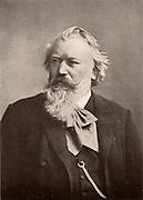 Johannes Brahms (1833-1897) German composer. After a photograph. Halftone.