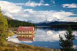 Pretty evening at Malingne Lake in Jasper National Park