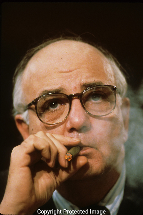 Paul Volcker, Chairman of the Board of Governors of the Federal Reserve in February 1982.  Assignment for TIME--cover of TIME...Photograph by Dennis Brack bB22